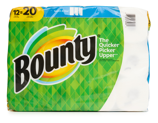 Bounty Paper Towels, 12ct, Select-a-size Mega Rolls