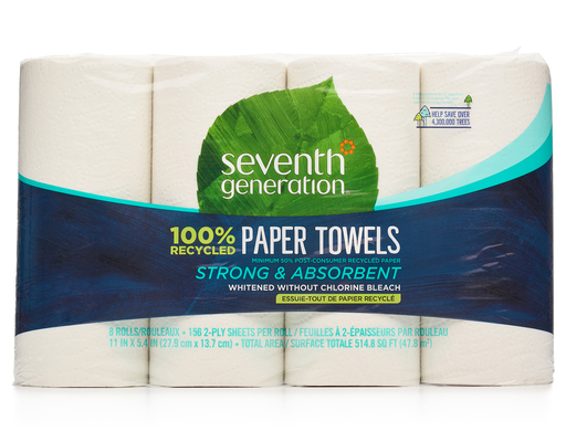 Seventh Generation Paper Towels, 8 Rolls