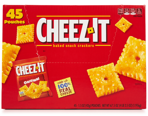 Cheez-it Crackers, 45 X 1.5oz On-the-go Pouches