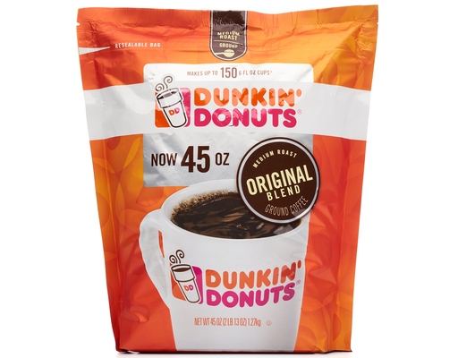 Dunkin Donuts Original Blend Coffee, 45oz Bag, Medium Roast