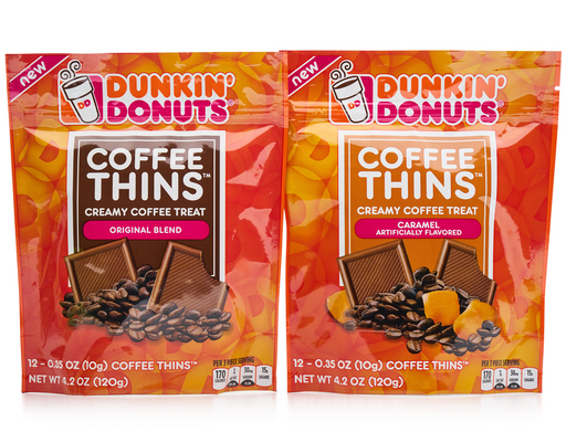 Dunkin Donuts Coffee Thins Creamy Coffee Treat 24 X 0 35